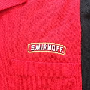 Hilton Shirts - Smirnoff Shirt Button Casual Hilton Red Black L